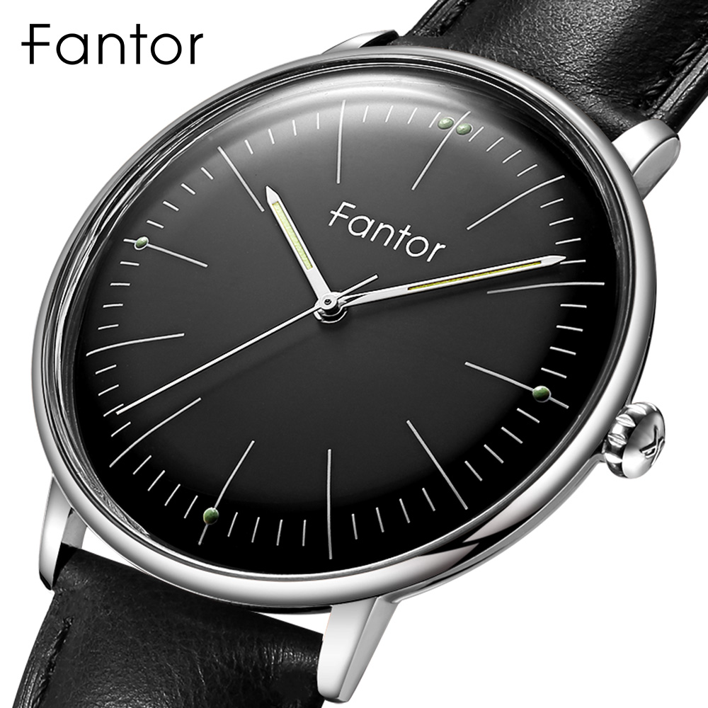 Men's Watches Fantor Top Casual Brand Waterproof Luminous Hand Leather Wristwatch 2020 Classic Quartz Watch For Men