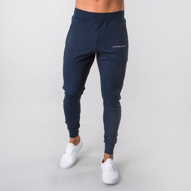 2019 New Style Mens ALPHALETE Jogger Sweatpants Man Gyms Workout Fitness Cotton Trousers Male Casual Fashion Skinny Track Pants 1