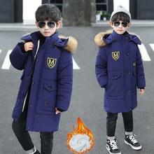 Parka Jacket Clothing Snowsuit Coat Kids Faux-Fur Boys Winter Children's New Cotton