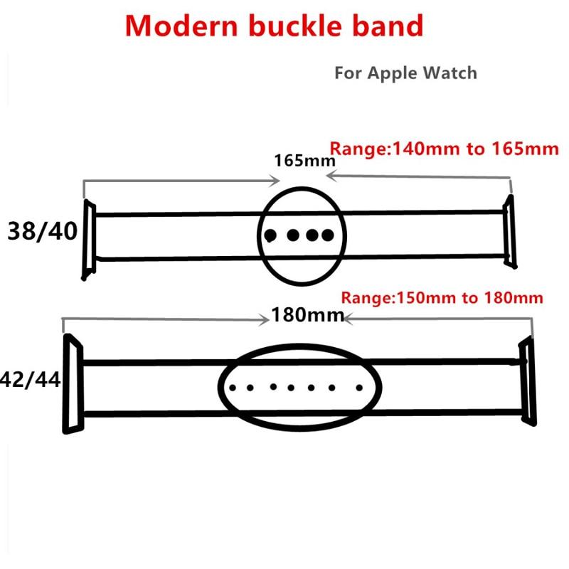 Pulseira para apple watch band 4 44mm 40mm iwatch 5 4 3 fivela  moderna couro genuíno loop banda 42mm 38mm pulseira relógio  acessóriosPulseira do relógio