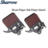 Decut NEW Bow Finger Protector Archer Left and Right Tabs Finger Safety Hand Pads Leather Protector Hand Protect Gear