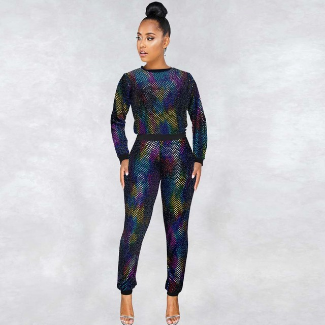 2 stück Set Afrikanischen Sets Für Frauen Neue Pailletten Afrikanische Elastische Bazin Baggy Hosen Rock Stil Dashiki Hülse Berühmte Anzug für Dame