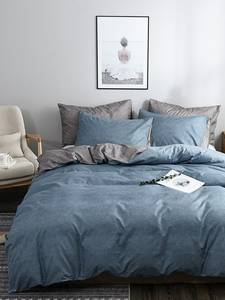 OLOEY Sets-Sheet Bedding-Set Duvet-Cover Bed Linen King-Queen Gray Classic Pink Blue