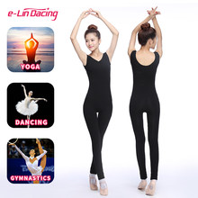 Body deportivo de Yoga para adultos, mono de Ballet, leotardo sin mangas, disfraz de gimnasia, mono de tirantes de LICRA de algodón para mujer