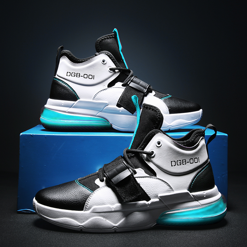 Fashion Cool Mens Sneakers High Top Shoes 2019 Winter Casual Shoe for Men Designer Shoes Blue White Warm Gift For Students|Men