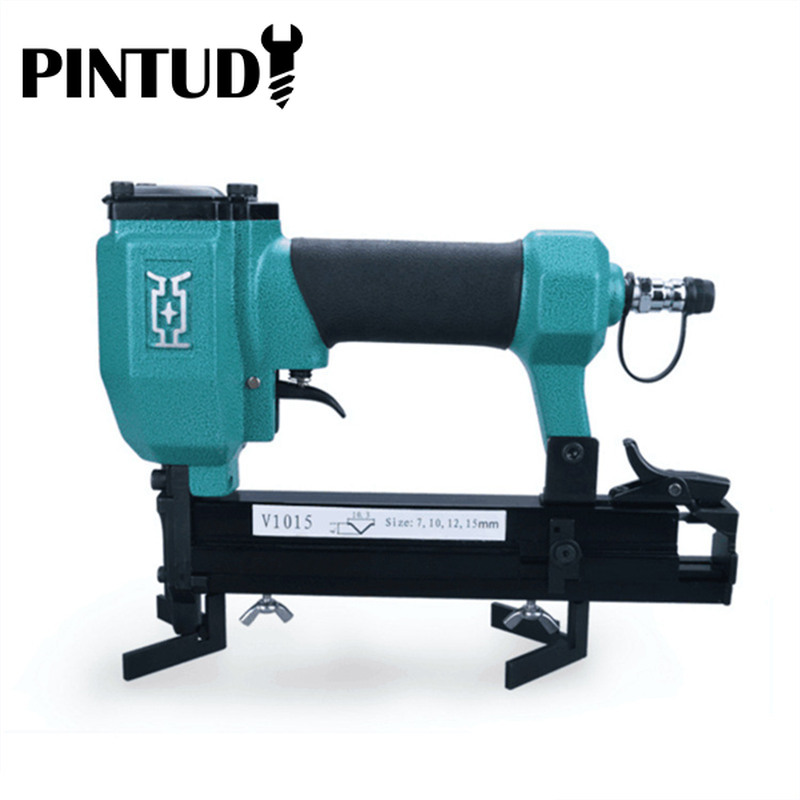 PINTUDY Power Tool Nail Gun Pneumatic V-NAILER Joining Gun Joiner Picture Frame Joiner V1015 Power Tool Accessories 2019 New
