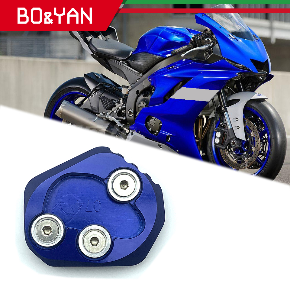 For Yamaha YZF <font><b>R6</b></font> YZF-<font><b>R6</b></font> <font><b>2017</b></font> 2018 2019 Motorcycle accessories Kickstand Side Stand Extension Pad Enlarger Plate image