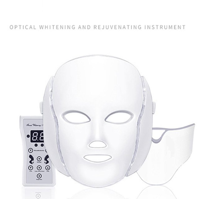 7 Colors LED Facial Mask Spectrometer Led Therapy Mask Light Therapy Acne Neck Face Mask Korean Skin Care OPP Bag Pack 2