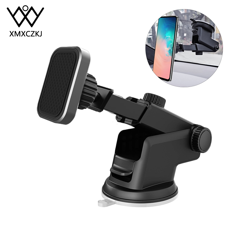 XMXCZKJ Magnetic Holder Telescopic Suction Cup For IPhone 11 Car Magnetic Phone Holder Windshield Dashboard Magnet For IPhone