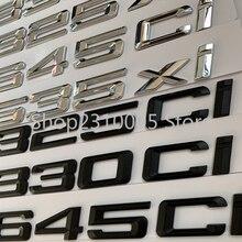 Abs Brief Nummer 325Ci 330Ci 645Ci 325xi 528xi 335ix Embleem Voor Bmw E46 E90 E91 E92 Sportwagen Roadster Coupe kofferbak Sticker