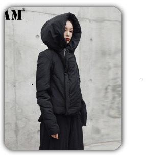 [EAM] 2019 Spring Plus Size Long Shirts Women Blouses Long-sleeve White Loose Tops Black White Cotton Shirt Big Size C006111 16