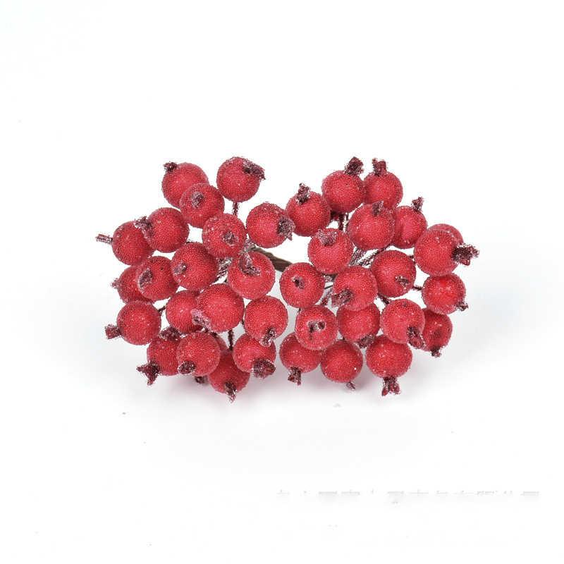 40 PCS/Bundle ตกแต่งมินิคริสต์มาสประดิษฐ์ Berry ประดิษฐ์พืชผลไม้โฟม Berries Candy กล่อง Scrapbooking