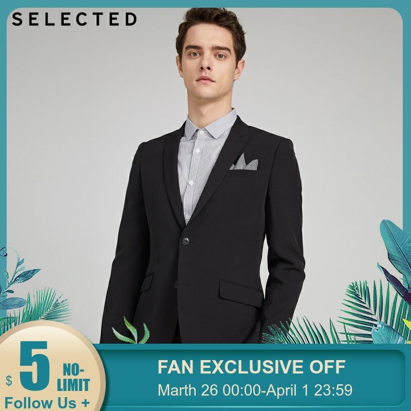 SELECTED Men's Stretch Regular Fit Jacket Business Casual Blazer S|42015X506【Fan Get New Arrivals Coupons In The Description】