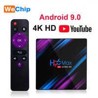 H96 max Android 9,0 caja de TV 2GB16GB RK3318 H96MAX 4GB 64GB 2,4G + 5G Wifi Bluetooth reproductor de medios de apoyo 3D película 4G32G Set Top BOX