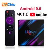 H96 max android 9.0 caixa de tv 2gb16gb rk3318 h96max 4 gb 64 gb 2.4g + 5g wifi bluetooth media player suporte filme 3d 4g32g conjunto caixa superior