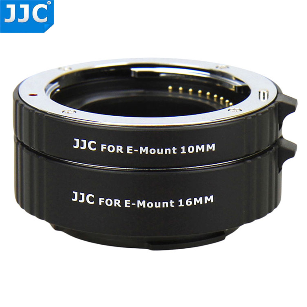 JJC Camera Auto Focus Lens Adapter Ring 10mm 16mm Sets Automatic Extension Tube for Sony NEX