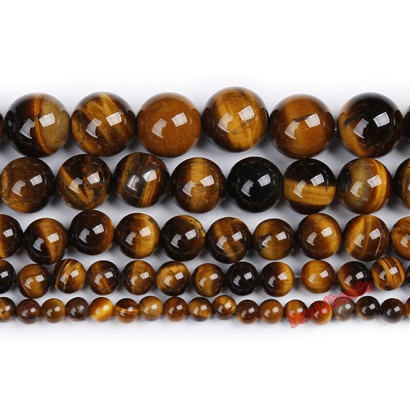 """Preço de fábrica pedra natural marrom ouro tigre olho agat contas redondas 16 """"strand 4 6 8 10 12 14mm escolher tamanho para fazer jóias"""