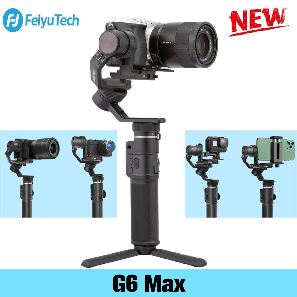 Feiyu G6 Max 3 achse handheld gimbal stabilisator für Kamera Sony a7 serie für Gopro 8/7/6 /5 spiegellose Action Kamera Smartphone