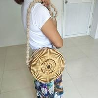 Individuality bamboo bag original ethnic style photo posing bag model catwalk show package travel beach bag street bag