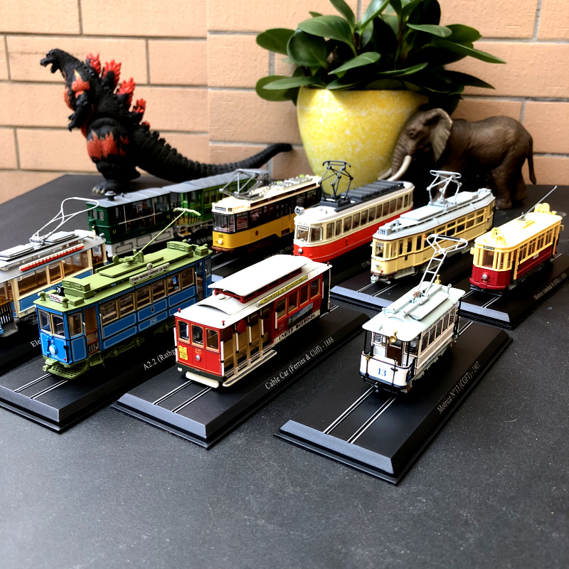 Atlas 1:87 Scale Vintage Train Tram Cars Model Ho Bus Model Collections Diecast Tram Gift