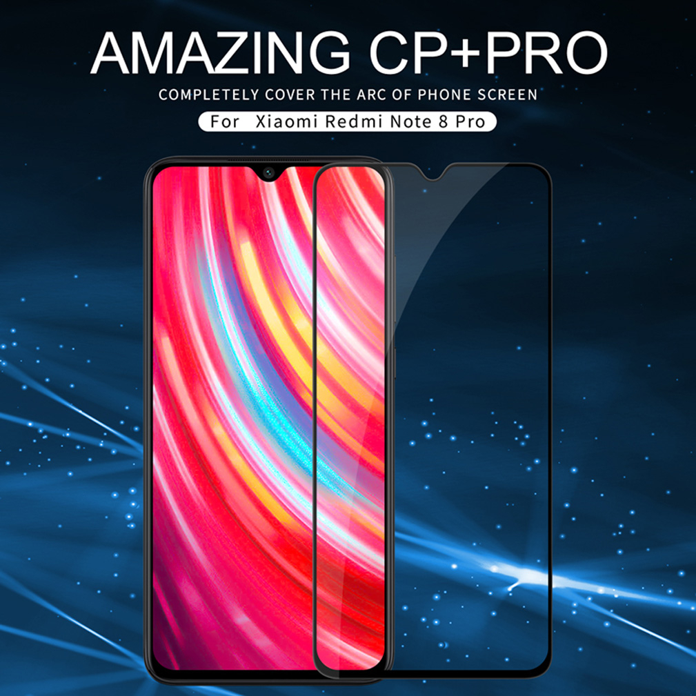 Nillkin Full Cover Glass For XiaoMi Redmi Note 8 pro 2.5D CP+Pro Tempered Glass For Redmi Note 8T Note8 Screen Protection film 3