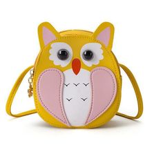 Kids Girls Lovely Owl PU Leather Shoulder Bag Crossbody Purse Coin Purse Newest