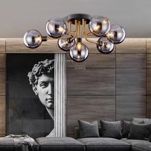 Скандинавский светильник, роскошный потолочный светильник для гостиной, s светодиодный стеклянный современный подвесной потолочный светильник, светильник для спальни, теплый потолочный светильник