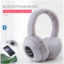 Auriculares inalámbricos con Bluetooth y micrófono, orejeras cálidas de invierno para niños y niñas, casco de música para teléfono iPhone 12