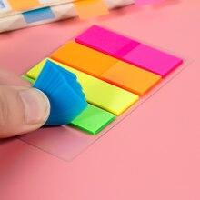 100 листов, цветной липкий бумажный блокнот для заметок, канцелярские принадлежности для школы и офиса, Закладка-наклейка для компьютера, бло...