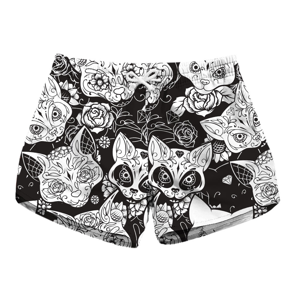 Ms. Digital Printing Speed Dry Shorts Skeleton Printing On Both Sides Of The Pocket Of Leisure Section Of Shorts