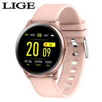 LIGE moda sport inteligentny zegarek mężczyźni kobiety opaska monitorująca aktywność fizyczną mężczyzna pulsometr funkcja ciśnienia krwi smartwatch do iphone'a w Inteligentne zegarki od Elektronika użytkowa na