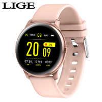 Reloj inteligente deportivo de moda LIGE para hombre y mujer, monitor de ritmo cardíaco, función de presión arterial, reloj inteligente para iPhone