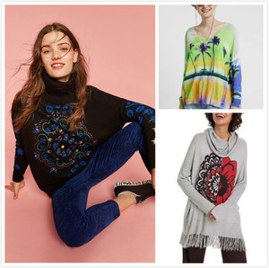Spanish DEG sweaters and knitted sweaters of various styles