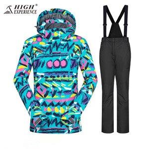 Image 4 - Winter Suit Ski Jacket Ski Suit Women Winter Jacket Female Snowboard Jacket Skiing Sport Suit Waterproof Snowboarding Snow Suit