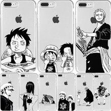 Japão anime uma peça caso de telefone luffy zoro para o iphone 12 mini 11 pro xs max xr x 6 7 8 mais se silicone macio tpu caso telefone