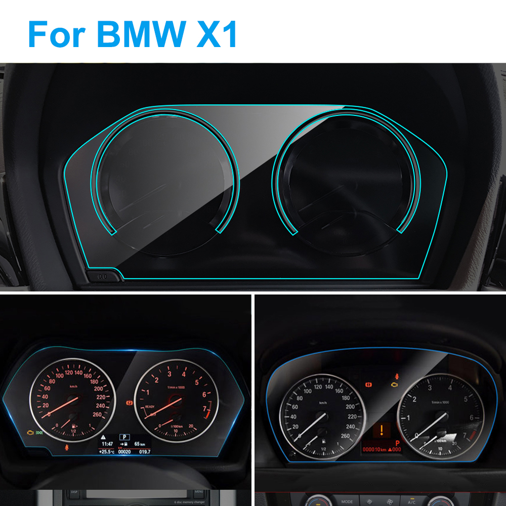 Car Instrument Panel Screen Protector For BMW E84 F48 X1 Interior Car Dashboard Membrane Screen Protective TPU Film Accessories