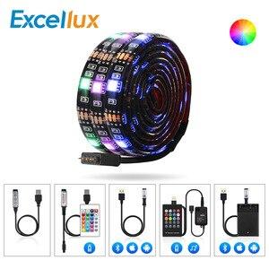 Image 5 - 5V bande Led USB 5050 RGB LED bande lumineuse 5050 Bluetooth bande de musique IP65 bande Flexible ruban Led bande TV éclairage de fond