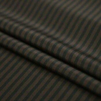 Tela DE seda DE Crepe DE chine DE seda DE impresión DE rayas marrón oscuro clásico 19 momme, SCDC833