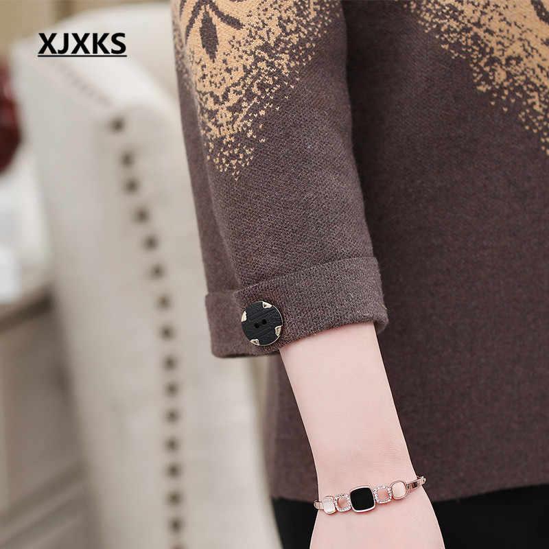 Xjxks Wanita Rajutan Sweter Cardigan 2019 Musim Gugur Musim Dingin Baru Longgar Plus Ukuran Kenyamanan Kasmir Mantel Wanita Jaket Sweater