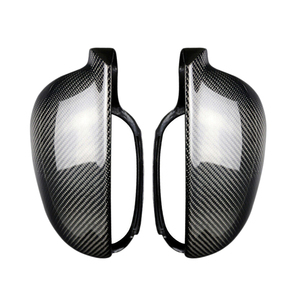 2Pcs Carbon Fiber Style ABS Side Rear View Mirror Cover Replacement for Golf 5 MK5 2003-2009