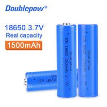 100% оригинальный высококачественный аккумулятор Doublepow 18650, 3,7 в, 1500 мАч, литий-ионная аккумуляторная батарея для фонарика и т. Д.