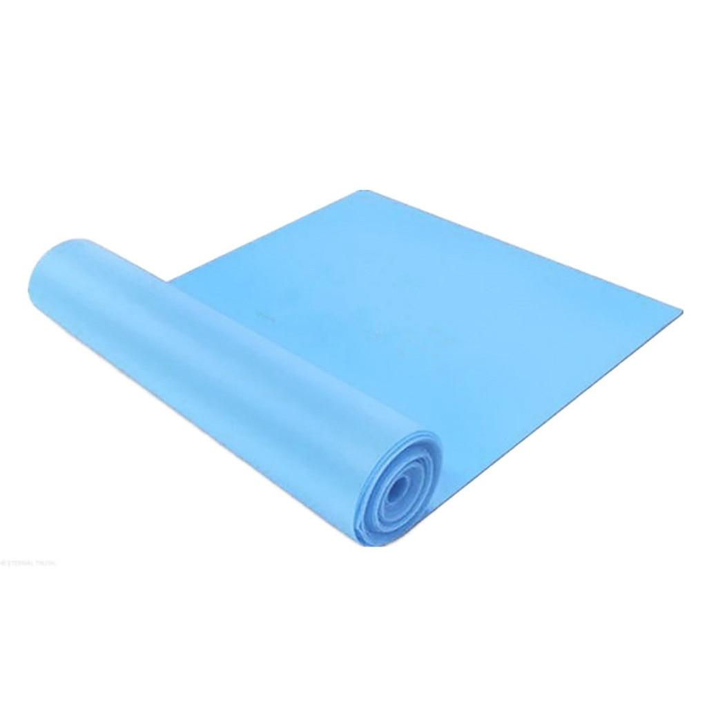 Эластичный Йога, Пилатес, стрейч, сопротивление 1,5 м, длинный спортивный пояс для фитнеса, пояс для йоги, ралли, тянущийся пояс, оборудование для фитнеса и йоги#30 - Цвет: Синий