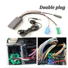Carro bluetooth 5.0 áudio estéreo aux entrada cabo mini plug para renault 2005-11