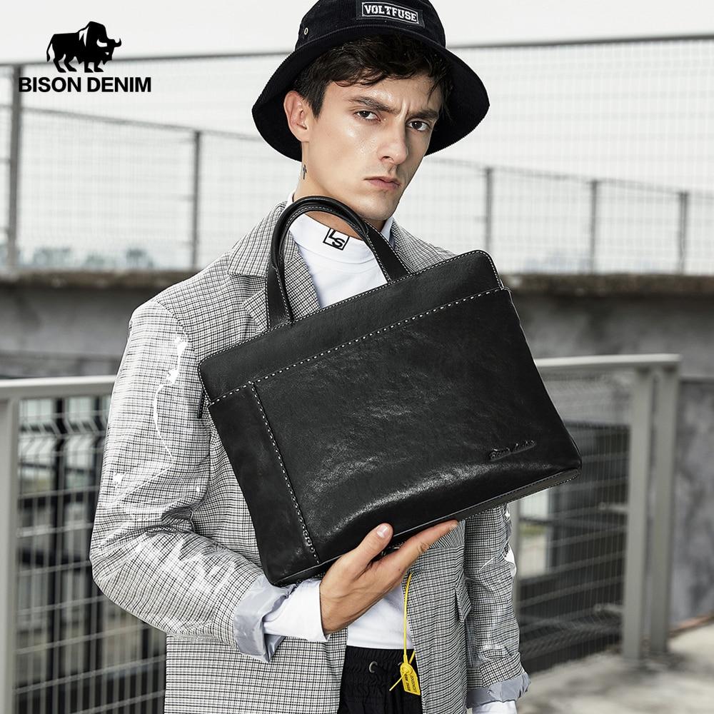 BISON DENIM Genuine Leather Men Bag 14