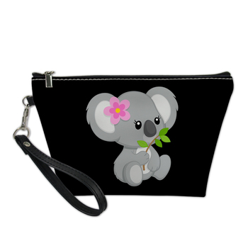 Thikin 2020 New Arrival Cartoon Koala Makeup Storage for Women Cosmetic Bags Cases Ladies Pen Bag Girls Cute Daily Pouch Purses 2