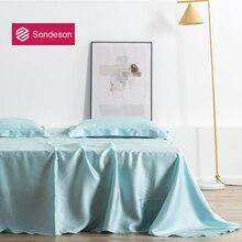 Sondeson Luxury Beauty 100% Silk Flat Sheet 25 Momme Silk Queen King Healthy Skin Bed Sheet Pillowcase Free Shipping For Women