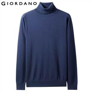 Image 2 - Giordano мужской джемпер с круглым высоким воротом,из натурального хлопка.
