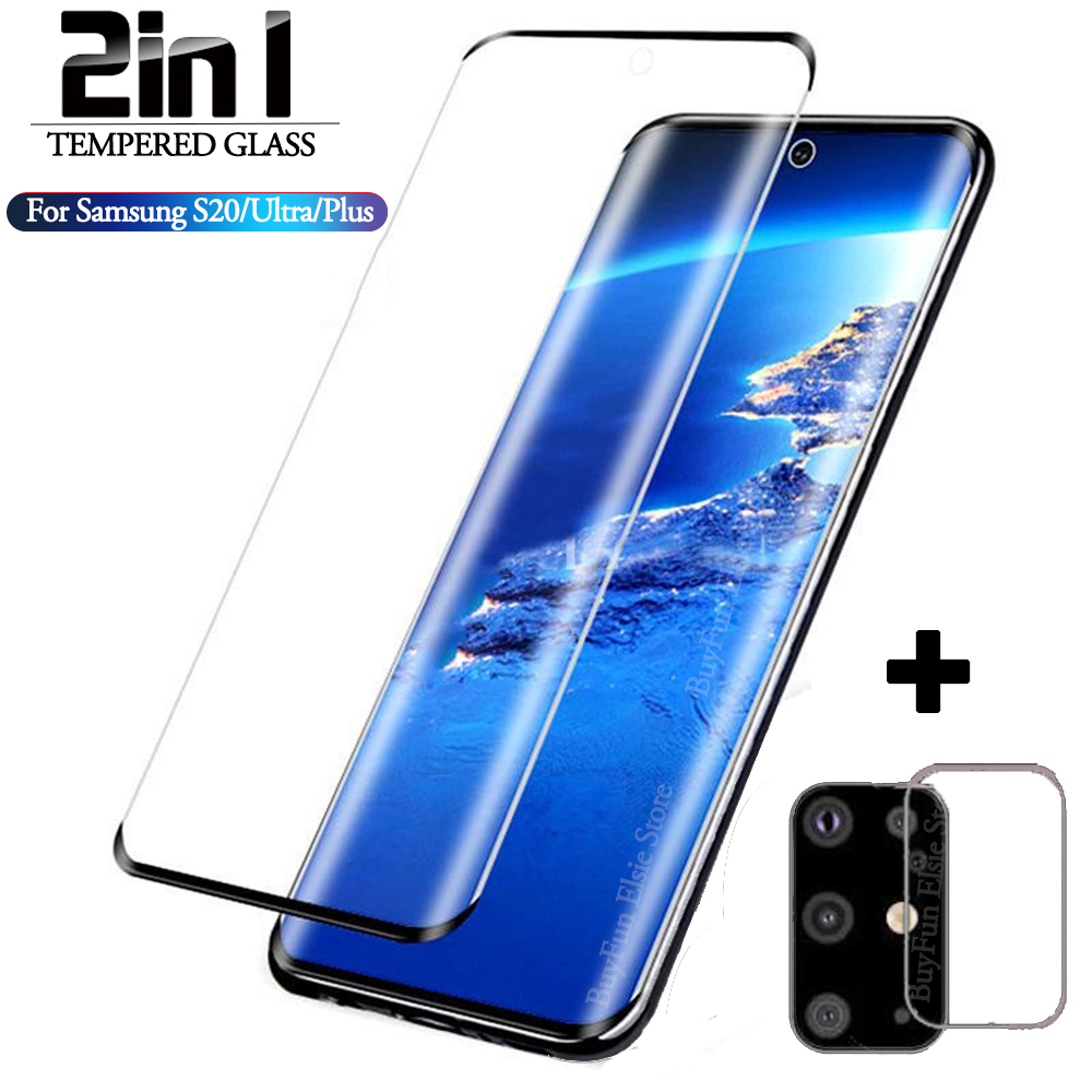 2-in-1 Camera Protective Glass On For Samsung Galaxy S20 Ultra S20Plus S 20 Screen Protector Film Samsun S20 Plus Tempered Glass