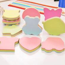 100 листов креативные цветные самоклеющиеся заметки самоклеящиеся