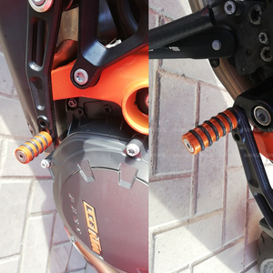 Image 4 - Shift Lever Toe Peg & Rear Brake Pedal Step For KTM 690 1290 1190 SUPER DUKE R RC8 Motorcycle Accessories Motorbike